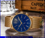 Montre-bracelet occasionnelle de quartz de courroie en cuir de dames d'ODM (WY-P17016A)