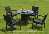 Novo Design de chá de vime cadeira de mesa definir mobiliário de jardim exterior