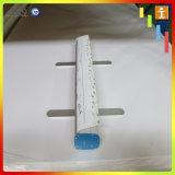 Faciles argentés en aluminium enroulent le présentoir de drapeau de budget (TJ-0010)
