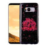 Роскошь коробки агрегатов телефона галактики S8 Samsung аргументы за сотового телефона нового цветка эпоксидной смолы TPU прибытия реального передвижная