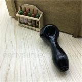 Klassische schwarze gefrittete Löffel-Handrohre für Tabak-Rauch (ES-HP-001)
