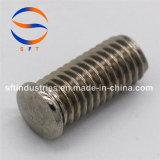 Продетый нитку стержень с фланцом ISO13918 (PS)