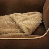 애완 동물 제품 브라운 겨울 온난한 개 침대 기억 장치 거품 애완 동물 침대
