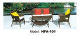 鉄フレームのPEの藤の屋外のソファーの一定の余暇の家具