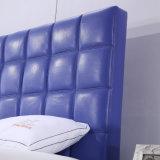 Neues Entwurfs-modernes Leder gepolstertes Plattform-Bett für Ausgangs-und Hotel-Schlafzimmer (G7010)
