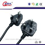 よい工場価格のイギリスの標準3 Pinの電源コード