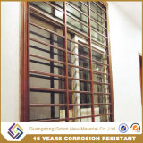 Parrilla de ventana de aluminio cubierta polvo de Guangdong, protector de la ventana