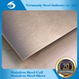 Feuille d'acier inoxydable de fini du numéro 4 d'ASTM 201 pour la construction