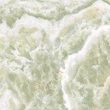 Grüne Farben-Marmor-Entwurf polierte glasig-glänzende Porzellan-Fliese für Innenbodenbelag