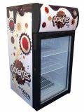 Питья энергии рекламы холодильник индикации свободно стоящего чистосердечного миниый (JGA-SC42)