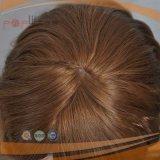 短いブロンドの自由な様式の絹の上のかつら(PPG-l-0318)