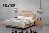 Sk13 미국식 침실 직물 침대