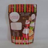 Fermeture à glissière de café en papier kraft blanc Sac d'emballage en plastique avec fenêtre