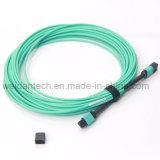 Qsfp+를 위한 10m 40g Om3 섬유 MPO/MTP 접속 코드