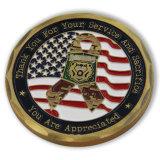Монетка Военно-воздушных сил эмали края диаманта цвета золота