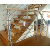 Inferriata d'acciaio delle scale moderne della Camera con il corrimano di legno