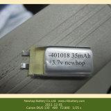 3.7 V 50mAh 55mAh再充電可能なBluetoothのヘッドセット電池401020