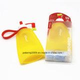 бутылка воды перемещения доказательства утечки складного силикона 11oz материальная