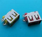새로운 도착 측에 의하여 삽입되는 4pin 여성 소형 USB 연결관
