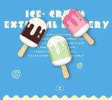 아이스크림 가벼운 외부 건전지 셀룰라 전화 보편적인 휴대용 충전기를 가진 귀여운 작은 힘 은행