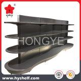 De lujo en madera y metal forma curva de supermercado estanterias