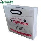 Le plastique a découpé le sac à main non tissé de sac à provisions de tissu de traitements
