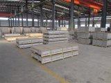 1050/3003/3005/3105 de grano de madera una lámina de aluminio para techos