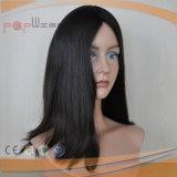 Cabelo humano Virgem brasileira peruca preta (PPG-l-010733)