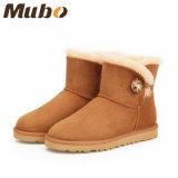 Зима овчины способа миниая короткая обувает ботинок женщин