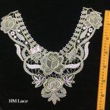 il merletto di Venise del fiore del tessuto di 36*33cm che cuce DIY copre il merletto Hme908 del collare del mestiere degli accessori