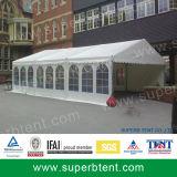 Tente de bâti avec le mur solide et le PVC clair Windows