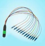 Cavo di zona ottico monomodale della fibra di MPO-LC