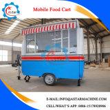 Chariot de vente populaire de vente d'aliments de préparation rapide de fabrication
