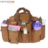 黒いOEM旅行ミイラデザイナー戦闘状況表示板の変更のおむつの赤ん坊のおむつ袋のバックパック