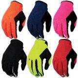Красная полная перчатка велосипеда Skidproof перста участвуя в гонке перчатка спорта (MAG78)
