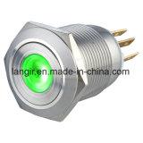 19mm ha sigillato l'interruttore di pulsante illuminato PUNTINO resistente del metallo di Vanal
