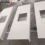 Countertop van de Keuken van de EpoxyHars van het Kwarts van Carrara van Bestop Uitstekende kwaliteit Aangepaste Witte