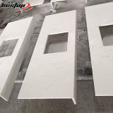 Bestop 고품질 주문을 받아서 만들어진 Carrara 백색 석영 에폭시 수지 부엌 싱크대