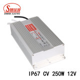 250W 12VDC 21A IP67는 엇바꾸기 전력 공급 LED 운전사를 방수 처리한다