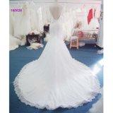 Backless Trumpetand Hochzeits-Großhandelskleid mit Spitze-Rand des Kleides