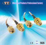 Fixation en laiton usiné avec précision CNC Connecteur avec câble de données tressé en nylon