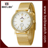 Orologio di lusso del maschio del quarzo della cassa del diamante di stile di affari di Belbi