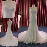 Zoll stellen Spitzennixe-Spitze Brautkleid-Hochzeits-Kleid 2018 her