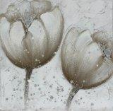 Decoración hecha a mano del hogar de la impresión de la lona de la flor del 100%