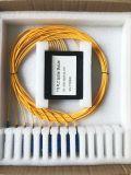 Il divisore ottico della scatola di plastica del PLC 1X8 della fibra per l'applicazione della rete e della radio e può, CCTV