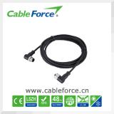 IP67 männlicher rechter winkliger Rundsteckverbinder des Verbinder-M12 3pin