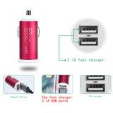 Venta caliente Rosa 5V 2.1A USB cargador de coche para móvil