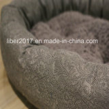 Runde Hundebett-Luxuxentwurfs-Haustier-Sofa-Fabrik-handgemachtes Haustier-Bett-Sofa
