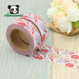 Venta al por mayor japonesa de la cinta de Washi de la Navidad de las flores del modelo de encargo violeta retro caliente de la hoja de arce