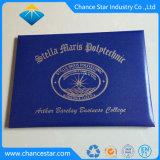 Graduación personalizada certificado PU cubierta con estampado de lámina